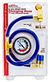 Interdynamics Certified A/C Pro R-134a Heavy Duty Charging Hose/Low Pressure Gauge
