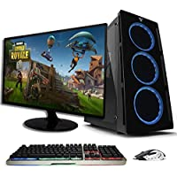 Pride COMPUTADORA Gamer Orange Plus/Ryzen 5 2400G / Radeon Vega 11/ 8GB /1TB HDD/Monitor y Kit Game