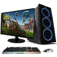 Pride COMPUTADORA Gamer Orange Plus/Ryzen 5 2400G / Radeon Vega 11/ 8GB /1TB HDD/Monitor y Kit Game
