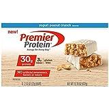 yogurt high protein - Premier Protein Nutrition Bar, Yogurt Peanut Crunch, 30g Protein (Pack of 6)