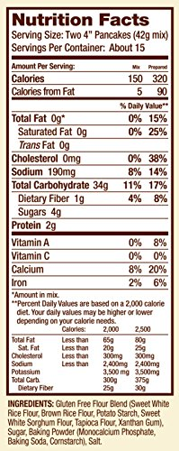 Bob's Red Mill Gluten Free Pancake Mix, 22-ounce (Pack of 4) by Bob's Red Mill (Image #5)