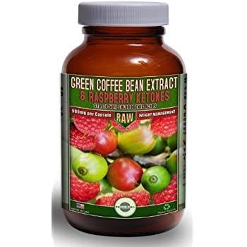 800mg Green Coffee Bean Extract combined with 100mg Raspberry Ketones | Standardized to the MAX 50% Chlorogenic Acids