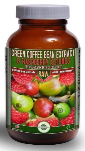 800mg Green Coffee Bean Extract combined with 100mg Raspberry Ketones   Standardized to the MAX 50% Chlorogenic Acids
