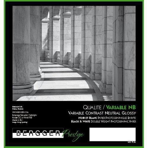 Bergger Prestige Variable NB Glossy Neutral Tone Black & White Baryta Paper, 280gm2, 11x14'', 25 Sheets