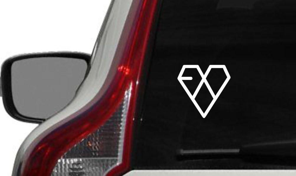 Exo Logo Version 4 Car Vinyl Sticker Decal Bumper Sticker for Auto Cars Trucks Windshield Custom Walls Windows Ipad Macbook Laptop Home and More (WHITE)