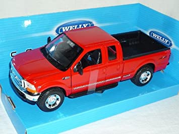 Ford F 350 Pick up rot  1:24 Welly  Modellauto