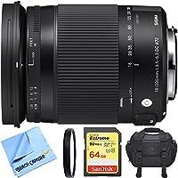 Sigma 18-300mm F3.5-6.3 DC Macro HSM Lens (Contemporary) for Sony Alpha Cameras includes Bonus Sigma Close-Up Lens and More