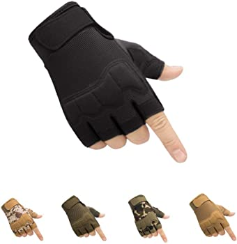 HYCOPROT Fingerless Tactical Gloves