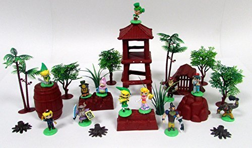 Zelda and Friends 25 Piece Play Set Featuring Zelda Figures and Themed Accessories by Kids Playsets