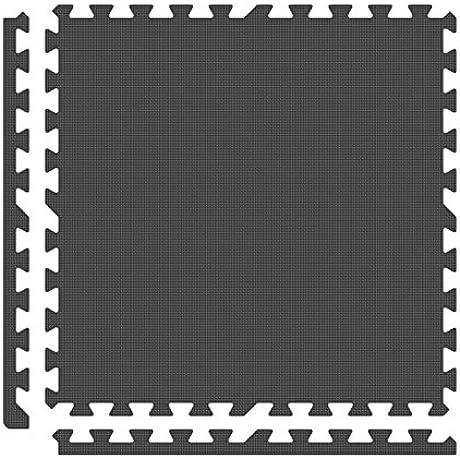 Alessco EVA Foam Rubber Interlocking Premium Soft Floors 14 X 14 Set Grey