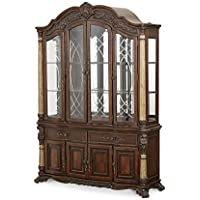 Michael Amini Victoria Palace China & Buffet Cabinet, Light Espresso