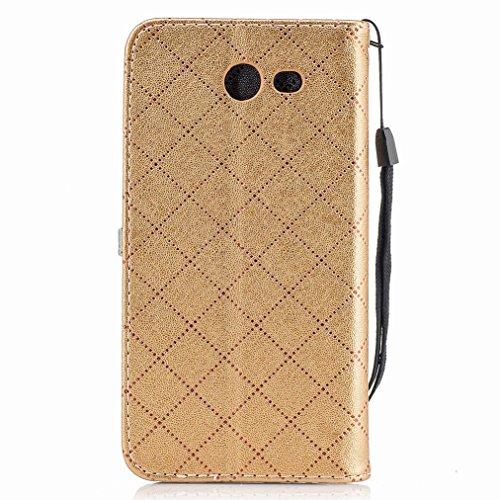 Yiizy Samsung Galaxy J3 (2017) / Galaxy J3 Emerge Custodia Cover, Amare Design Sottile Flip Portafoglio PU Pelle Cuoio Copertura Shell Case Slot Schede Cavalletto Stile Libro Bumper Protettivo Borsa (