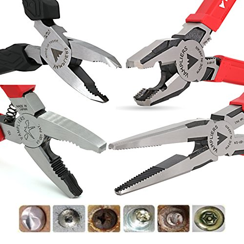 (VAMPLIERS. Best Made Pliers! 4-PC Set S4B Patented Specialty Screw Extractions Pliers. Extract Stripped Stuck Security, Corroded or Rusted Screws/Nuts/Bolts)