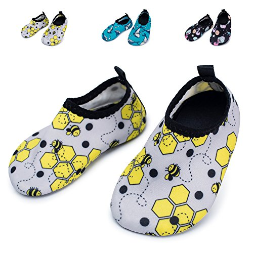 Image of L-RUN Baby Water Shoes Barefoot Skin Aqua Sock Swim Shoes Beach Swim Pool