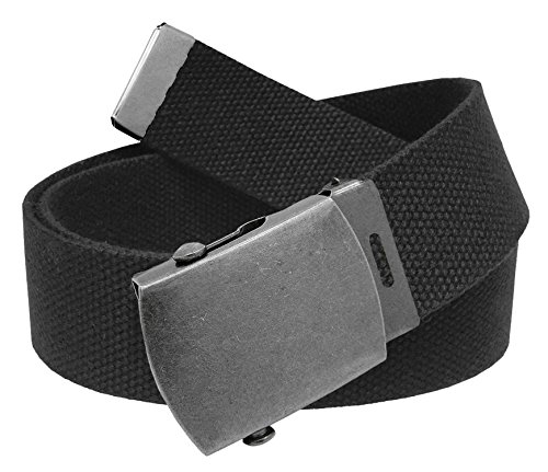 Why Should You Buy Cut to Fit Men's Canvas Web Golf Belt with Antique Silver Slider Buckle Size Up t...