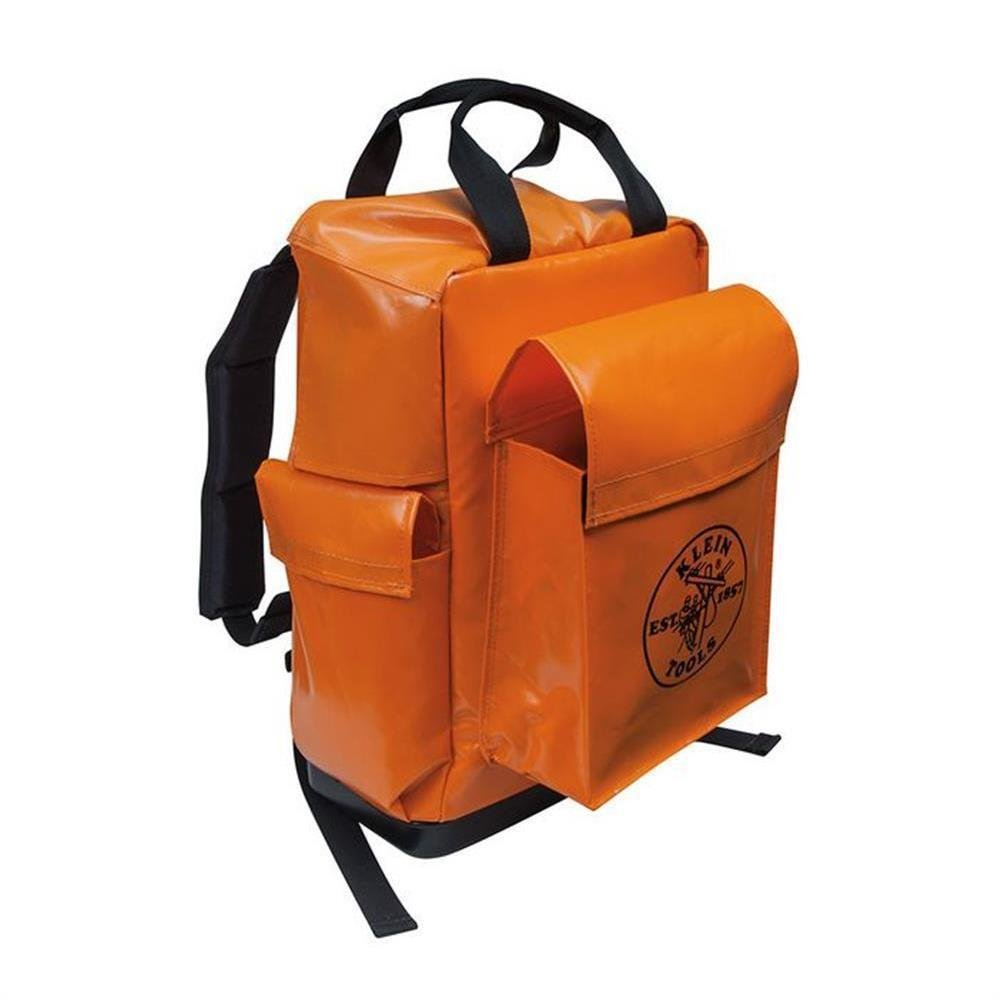 Klein Tools 5185ORA Lineman Backpack, Orange .#GH45843 3468-T34562FD688756