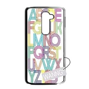 alphabet art LG G2 Hard Back Case, alphabet art Custom Case for LG G2 at WANNG