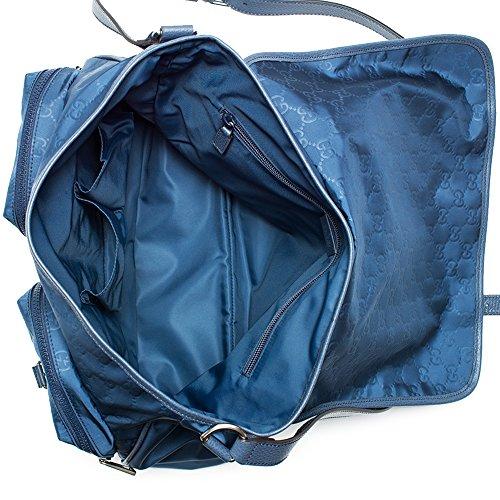 797afb8278a Gucci 387070 Gg Pattern Gg Nylon Navy Blue Messenger Bag New - Buy ...