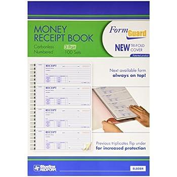 amazon com rediform formguard money receipt book 2 75 x 7 inch