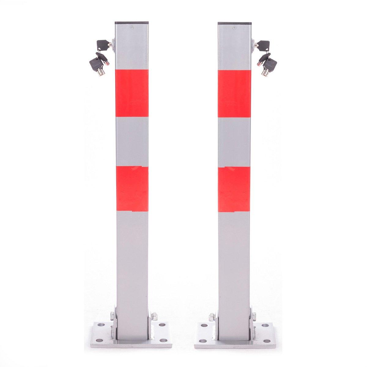 Poste plegable rectangular de Ectx de acero inoxidable para aparcamiento elé ctrico Ectxo