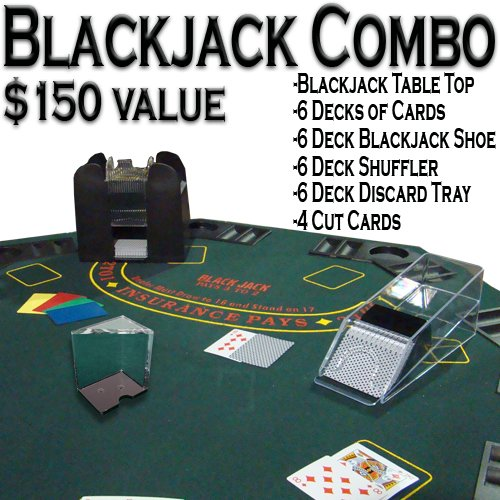 Blackjack Combo Pack Deluxe - All-in-one Blackjack Kit by Brybelly