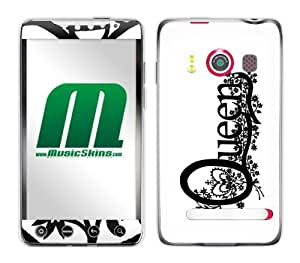 Zing Revolution MS-QUEN30132 Queen - Logo Cell Phone Cover Skin for HTC Evo 4G