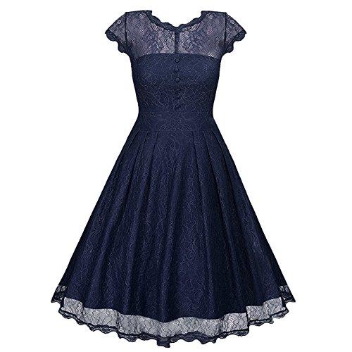 Wellwits Womens Through Vintage Dress