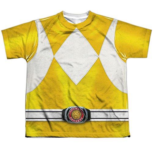 Youth: Power Rangers- Yellow Ranger Kids T-Shirt Size