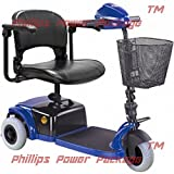CTM - HS-125 - Lightweight Travel Scooter - 3-Wheel - Blue - PHILLIPS POWER PACKAGE TM - TO $500 VALUE