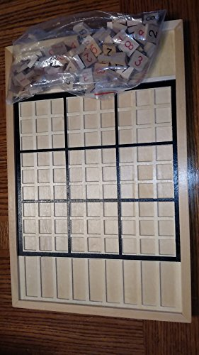Deluxe Wooden Sudoku (Deluxe Wooden Sudoku Board Game 15-1/2