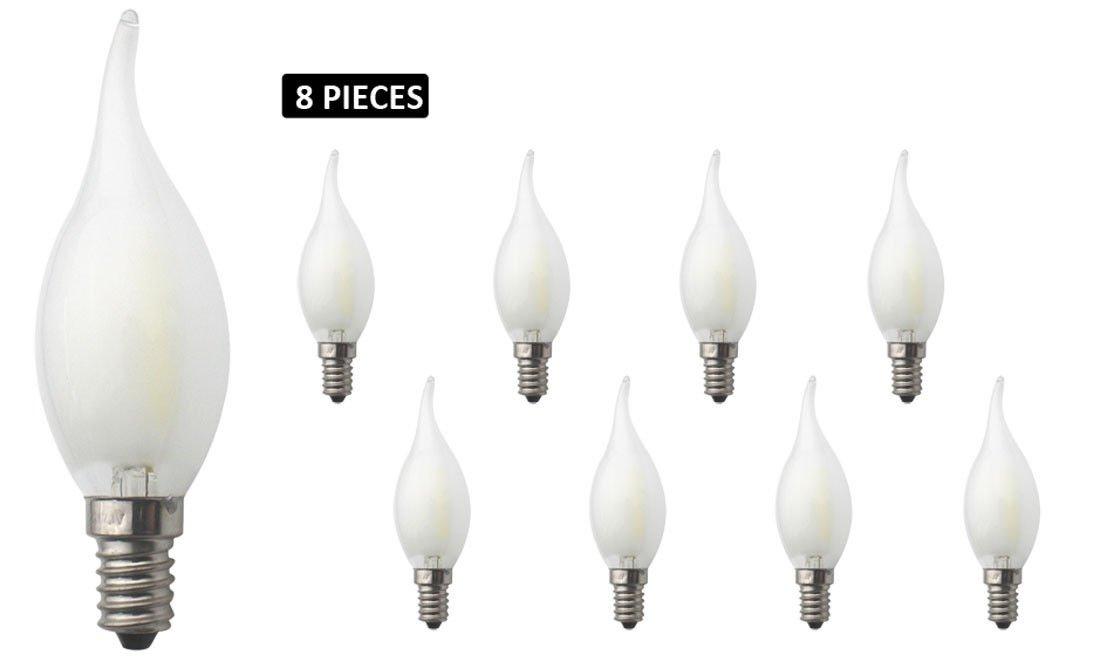 JCKing 8-Pack Regulable AC 220V E14 4W LED Filamento Vintage Bombilla, Bombillas incandescentes de 40W Reemplazo para lá mpara, Blanco frí o Bombillas incandescentes de 40W Reemplazo para lámpara Blanco frío