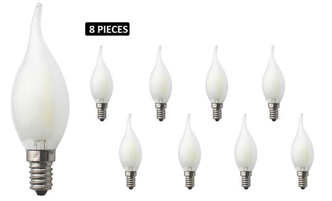 JCKing 8-Pack Regulable AC 220V E14 6W LED Filamento Vintage Bombilla, Bombillas incandescentes