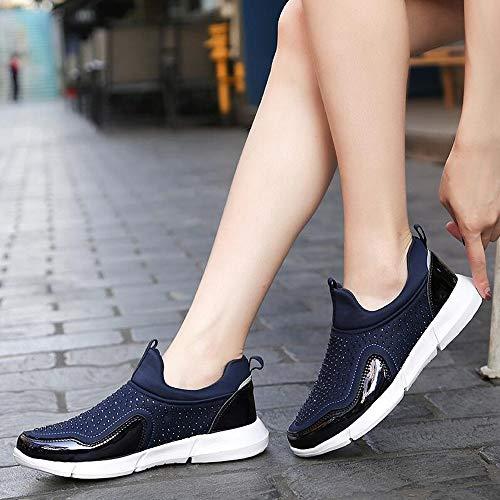 Fitness Sneaker Smorzamento Ysfu In Stretch Donna Jogging Scarpe Da Ginnastica Traspirante Antiscivolo Comodo Outdoor Leggero Mesh Camminata Casual qaBawx
