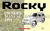 1991 Daihatsu Rocky Owner's Manual Reprint