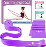 RubyStretch 2-in-1 Exercise Ballet Stretch Bands Set + Gift Box | Bands for Dance, Flexibility & Gymnastics – Resistance Band and Stretching Band Kit