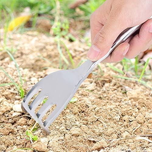 Jeffergarden 2Pcs Attrezzo da Giardinaggio Set da Kit Giardino in Plastica Cazzuola Pala Durevole Spade Rake Sliver Manico Set di Strumenti Regalo per Uomini e Donne