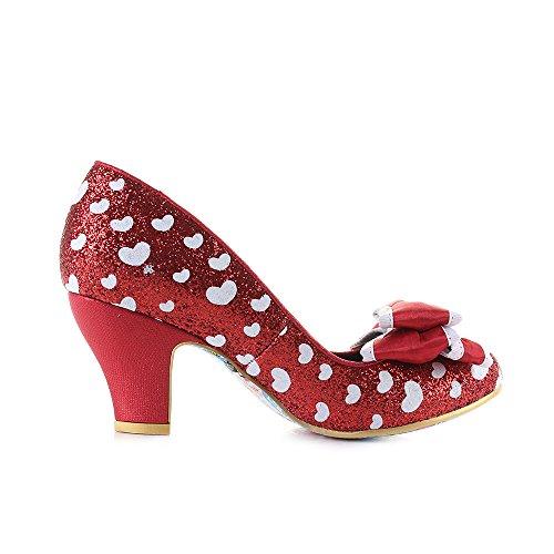 Shoes Heel Red Womens Glitter Ban Choice White Joe Court Irregular nHwTBqgB