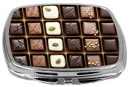 Rikki Knight Compact Mirror, Box of Gourmet Chocolates, 3 Ounce