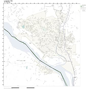 Amazoncom ZIP Code Wall Map of Longview WA ZIP Code Map Laminated