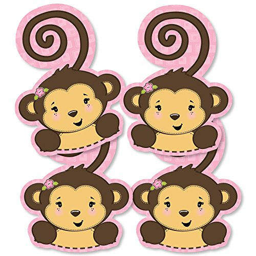 Pink Monkey Girl - Monkey Decorations DIY Baby
