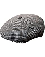 219a6ee5 DelMonico Dk. Grey Herringbone Newsboy Cap by Doria at Amazon Men's ...