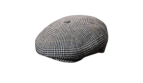 a924e34ebe0 DelMonico Plaid Wool Cashmere Newsboy Cap by Doria-Grey-56 at Amazon Men s  Clothing store
