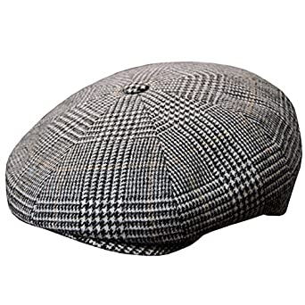 457a46b4439 DelMonico Plaid Wool Cashmere Newsboy Cap by Doria-Grey-56 at Amazon ...
