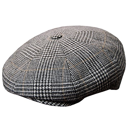 DelMonico Plaid Wool/Cashmere Newsboy Cap by Doria-Grey-56
