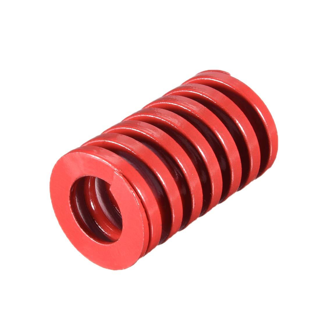 sourcing map 25mm od 40mm largo estampado en espiral molde de compresi/ón de carga media tornillo de resorte 1pcs