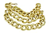 1 Bold Large Link Multi Strand 2 Tier Goldtone Anklet Heel Chain for Shoe Boot, 10+3'' Ext.