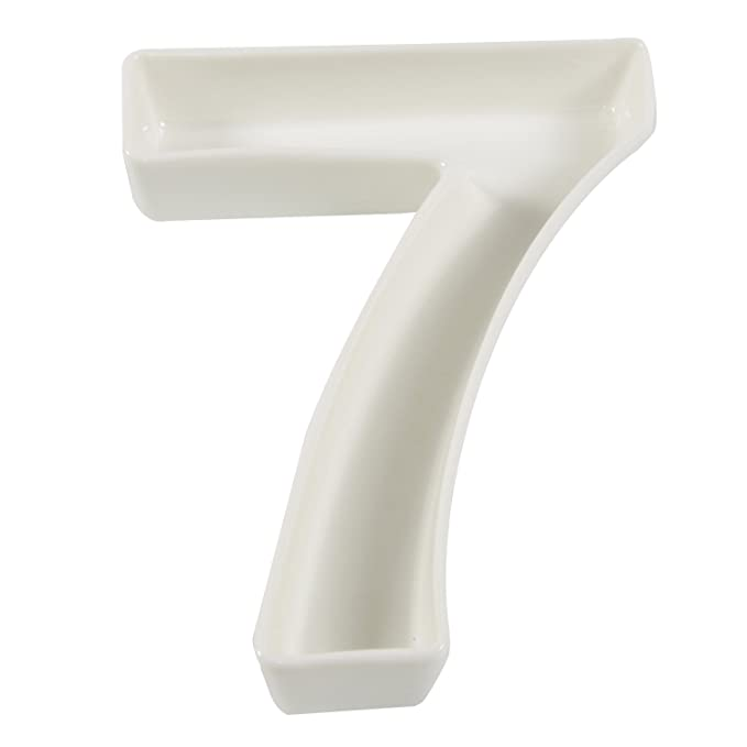Amazon.com: Blanco Número de cerámica plato para decoración ...