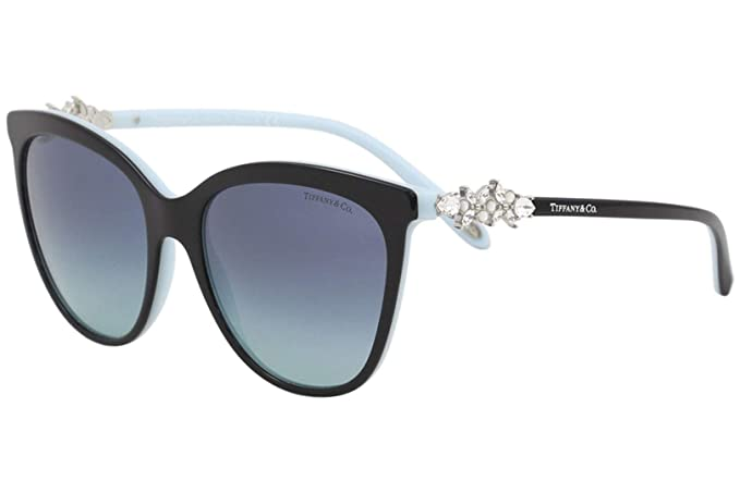 2e30b26956a3 TIFFANY Women's 0TY4131HB 80559S 56 Sunglasses,  Black/Blue/Azuregradientbluee