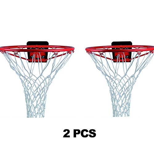 - AgirlvctProfessional 2 PCS Heavy Duty Basketball Net Replacement,12 Loops Standard Size Nylon All Weather Basketball Hoop Nets Kids Teens Boys Indoor Outdoor Sports Pool School( White )