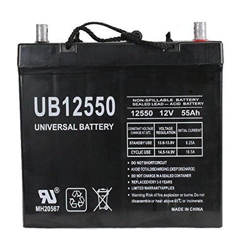 Pride BATLIQ1018 12V 55Ah Sealed AGM Battery Group 22NF by Universal Power Group